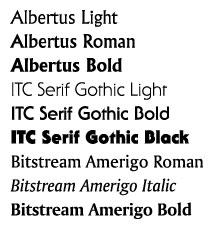 Рис 15 шрифты с едва наметив